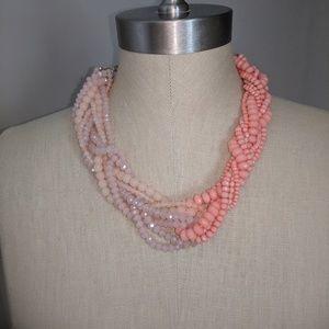 LOFT beaded twist necklace